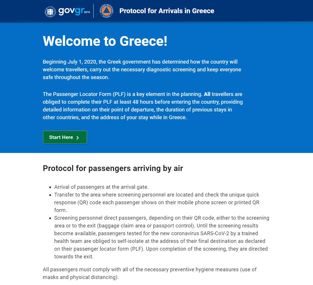 Kötelező nyomatvány a Görögországba érkezőknek 2020 július 1-től