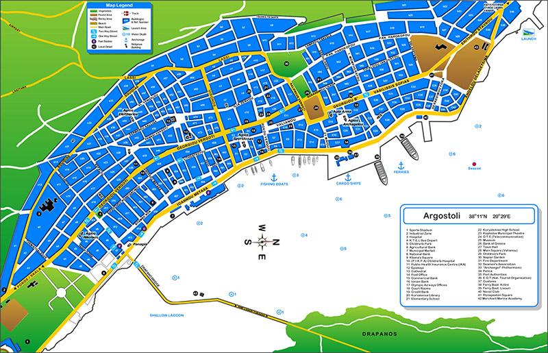 Argostoli térkép